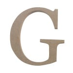 "Декоративен символ RicoDesign, ""G"", MDF, 4,1x3,9 cm"