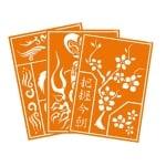 Шаблони за рисуване на коприна студен батик JAVANA, А3