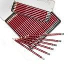 Комплект графитни моливи CLEOS FineArtGraphite, 6 бр.2H,HB,2B,4B,6B,8B