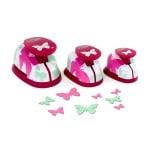 Комплект пънчове, Пеперуди,15x9/ 23x14/ 35х21 mm,3 части