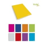 Тетрадка Notte Pastel, A4, спирала, Flexy корица, 60 л., ред, 60 g/m2