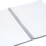 Тетрадка Notte Pastel, A4, спирала, Flexy корица, 100 л., ред, 60 g/m2