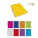 Тетрадка Notte Pastel, A5, спирала, Flexy корица, 80 л., ред, 60 g/m2