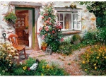 Пъзел художествен WENTWORTH, Roses around the door, 40 части