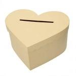 Кутия за пари, Сърце, 32 x 27 x 16 cm, картон, кафява