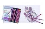 Подаръчен комплект за оцветяване Mandala с включен комплект моливи