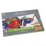 Комплект цветни моливи Mega Color, 24 цвята, метална кутия
