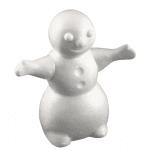 Снежен човек от стиропор, бял, H 170 mm
