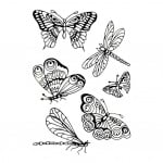 Прозрачен печат, Пеперуди, А7, 74 х 105 mm, 6 ч.