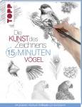 Книга на немски език TOPP, DIE KUNST DES ZEICHNENS 15 MINUTEN - VÖGEL, 96 стр.