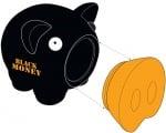 Касичка-прасенце BLACK MONEY, пластмаса