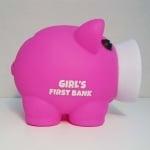 Касичка-прасенце GIRL'S FIRST BANK, пластмаса