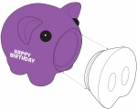 Касичка-прасенце HAPPY BIRTHDAY, пластмаса