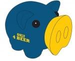 Касичка-прасенце ONLY 4 BEER, пластмаса