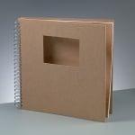 Албум за скрапбукинг, 30 × 30 / 9 х 13 cm, 25 стр., 190 g/m², кафяв