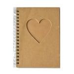 Бележник, Сърце, 15.5 x 11 cm, 60 листа, кафяв