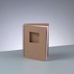 Бележник за скрапбукинг, квадрат, A 6 / 15,5 × 11 cm, 60 стр., 70 g/m², кафяв