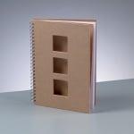 Бележник за скрапбукинг, A 5 / 21,5 × 15 cm, 60 стр., 70 g/m², кафяв