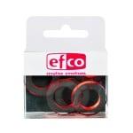 Бижу Acryl Duo, кръг, 4 / 24 mm, 5 броя, прозрачно с червен оттенък