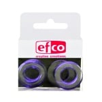 Бижу Acryl Duo, кръг, 4 / 24 mm, 5 броя, прозрачно с лилав оттенък