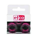 Бижу Acryl Duo, кръг, 4 / 24 mm, 5 броя, прозрачно с розов оттенък