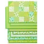 Блок 8л.цветна хартия/ 16 л.варио картон, А4, зелени тонове