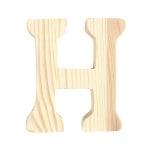 "Буква декоративна RicoDesign, ""H"", натурално дърво, 8 cm"