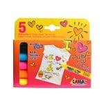 Комплект маркери текстилни SYNNY, JAVANA, medium, 5 бр.