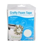 Crafty Foam Tape, 4m x 2mm, бяла, стандартна