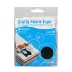 Crafty Foam Tape, 4m x 2mm, черна, стандартна