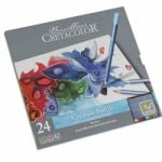Комплект акварелни моливи Cretacolor, MARINO, 24 цвята