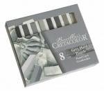 Комплект пастели Cretacolor, GREY CHALKS, 8 бр., сиви