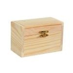 Дървена кутия, 12 x 7 x 7,5 cm, натурална