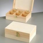 Дървена кутия, 23,5 x 17 x 9 cm, натурална