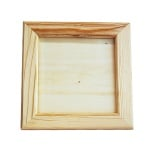 Дървена рамка, 23,5 х 23,5 / 16,5 х 16,5 см,  натурална