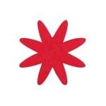 Деко фигурка цвете 8 листно, филц, 60 mm, червено