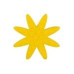 Деко фигурка цвете 8 листно, филц, 60 mm, жълто