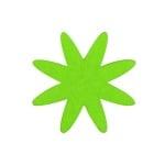 Деко фигурка цвете 8 листно, филц, 80 mm, тревно зелено