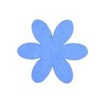 Деко фигурка цвете, филц, 50 mm, лилаво