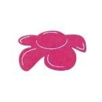 Деко фигурка цвете отстрани, филц, 60 mm, прасковено