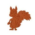 Деко фигурка катеричка, Filz, 40 mm, светло кафява