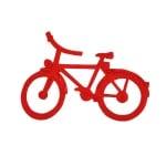 Деко фигурка колело, Filz, 60 mm, червено