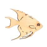 Деко фигурка рибка Discus, дърво, 60 mm