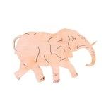 Деко фигурка слон, дърво, 50 mm