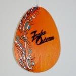 Деко фигурка яйце, дърво, 30 mm