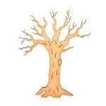 Деко фигурка зимно дърво без листа. дърво. 100 mm