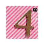 "Декоративен символ RicoDesign, ""4"", MDF, 4,1x3,0 cm"