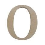 """Декоративен символ RicoDesign, """"O"""", MDF, 4,1x3,7 cm"""