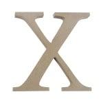 "Декоративен символ RicoDesign, ""X"", MDF, 4,1x4,1 cm"