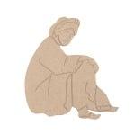 Декоративна фигура RicoDesign, АРАБИН, MDF, 18/14/0.5 cm